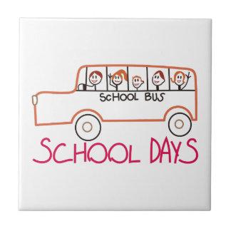 Dias escolares azulejo quadrado pequeno