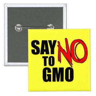 Diga NÃO a GMO Bóton Quadrado 5.08cm