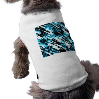 Digitalart G253 do abstrato do preto azul da roupa Camiseta