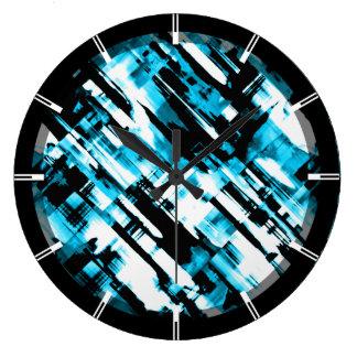 Digitalart quente G253 do abstrato do preto azul Relógio Grande