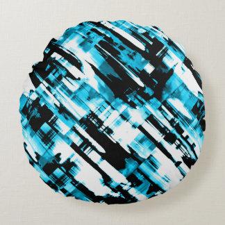 Digitalart redondo G253 do preto azul do Almofada Redonda