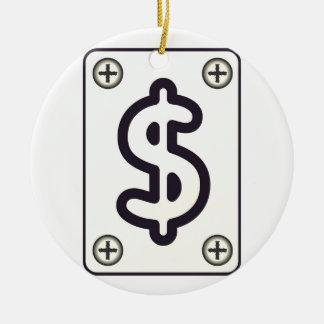 Dinheiro, Cifrão, Negócios Ornamento De Cerâmica Redondo