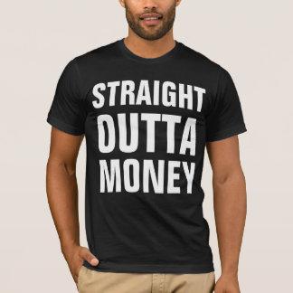 Dinheiro reto do outta camiseta