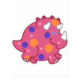 Dinossauro carnudo dos desenhos animados do cartão postal