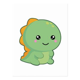 Dinossauro de Kawaii Cartão Postal