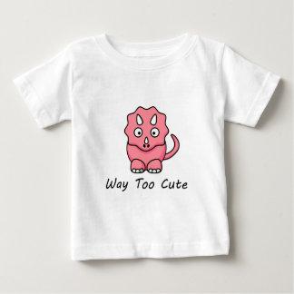 Dinossauro demasiado bonito da maneira t-shirts