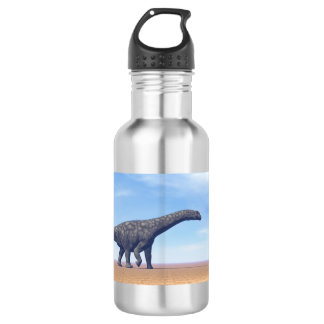 Dinossauro do Argentinosaurus no deserto - 3D Garrafa D'água
