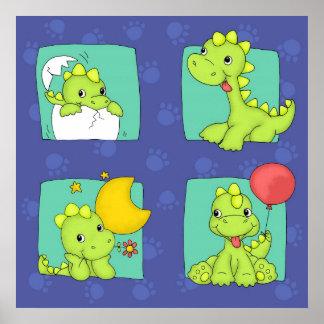 Dinossauro do bebê pôster