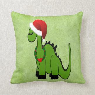 Dinossauro do Natal Almofada