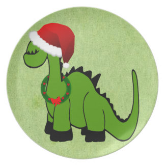 Dinossauro do Natal Prato