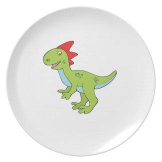 dinossauro do rex do lagarto louça de jantar
