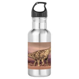 Dinossauro grande do argentinosaurus que anda garrafa