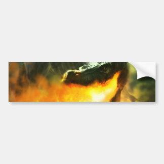 Dinossauro ou dragão deRespiração por Michael Mahe Adesivo