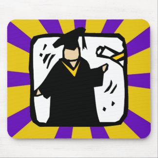 Diploma de recepção graduado - roxo & ouro mousepad