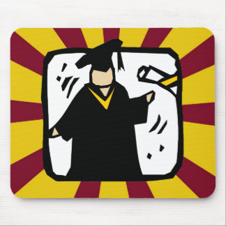 Diploma de recepção graduado - vermelho & ouro mousepad