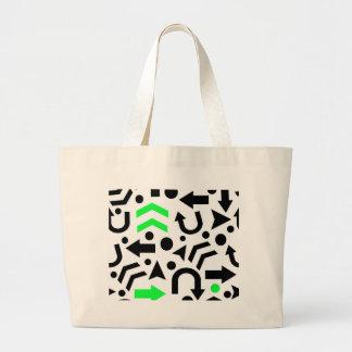 Direcção certa verde bolsa tote grande