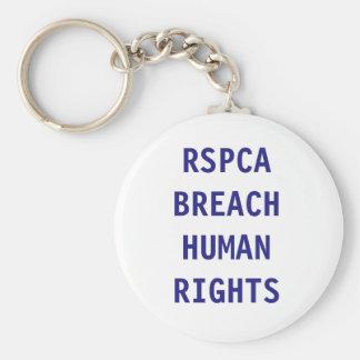 Direitos humanos da ruptura da corrente chave chaveiro