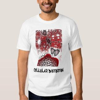 Distorção celular t-shirt