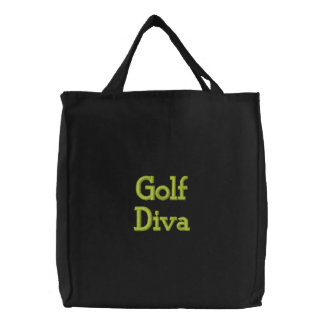Diva do golfe bolsa de lona
