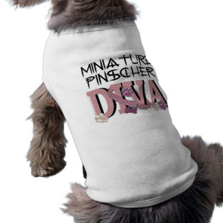 DIVA do Pinscher diminuto Camisa Sem Mangas Para Cachorro