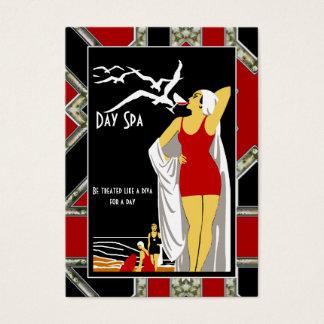 Diva do salão de beleza dos termas do dia do cartão de visitas