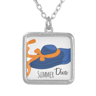 Diva do verão colar com pendente quadrado