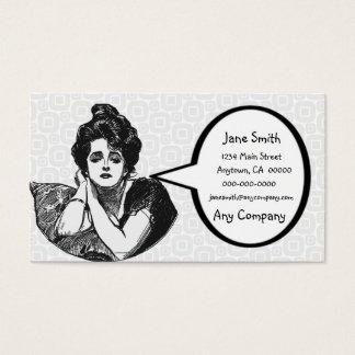 Diva do Victorian Cartão De Visitas