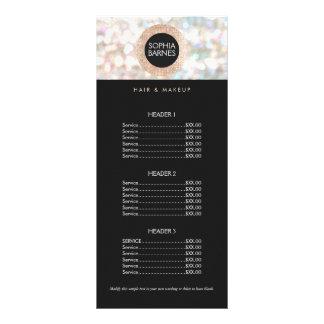 Divertimento Bokeh e menu cor-de-rosa da tabela de 10.16 X 22.86cm Panfleto