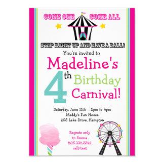 Divertimento & convite de festas do carnaval da