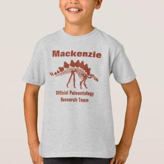 Divertimento do dinossauro da paleontologia camisetas