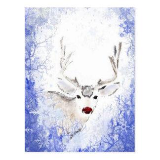Divertimento do Natal com os flocos de neve do Cartão Postal
