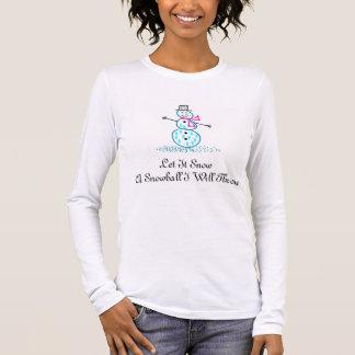 Divertimento do Snowball do boneco de neve do T-shirts
