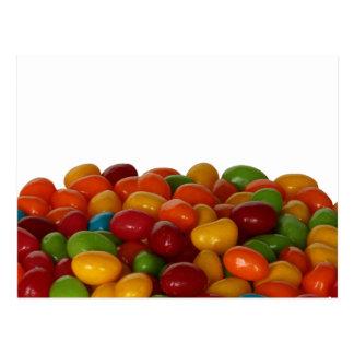 Divertimento e feijões de geléia coloridos cartão postal