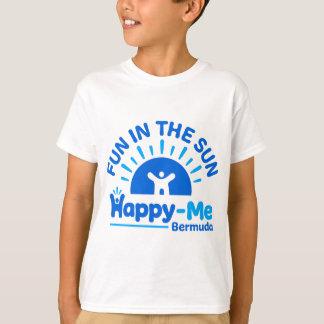 Divertimento em The Sun - Feliz-mim Bermuda Camiseta