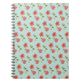 divertimento floral caderno espiral