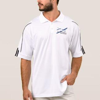 Divertimento na camisa do golfe da aviação