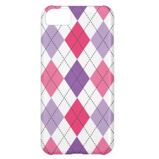 Divertimento roxo cor-de-rosa na moda retro de capa para iPhone 5C