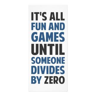 Dividir-se por zero não é um jogo 10.16 x 22.86cm panfleto