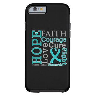 Divisa da fé da esperança do câncer de ovário capa tough para iPhone 6