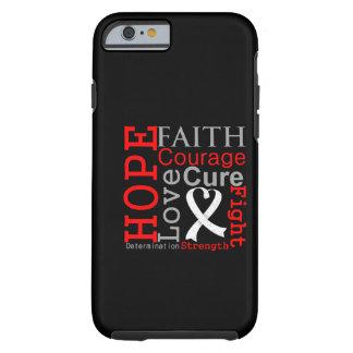 Divisa da fé da esperança do câncer pulmonar capa tough para iPhone 6