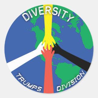 Divisão dos trunfos da diversidade - etiqueta