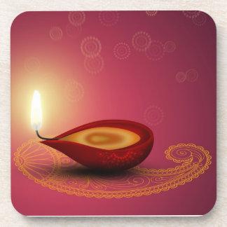 Diwali feliz brilhante Diya - porta copos da