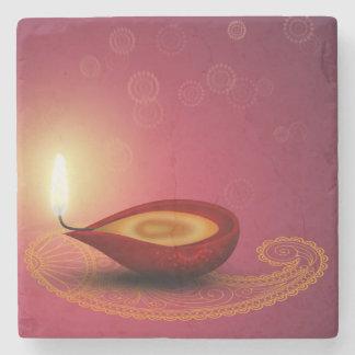 Diwali feliz brilhante Diya - porta copos de pedra