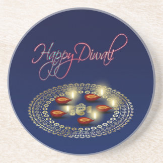 Diwali feliz Ganesha Rangoli - porta copos do