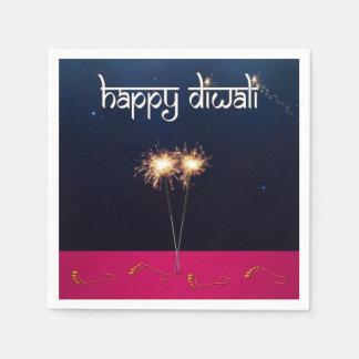 Diwali feliz Sparkling - guardanapo de papel