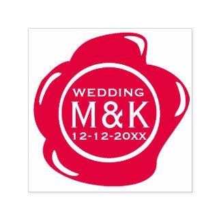 DIY que Wedding o monograma vermelho do selo da Carimbo Auto Entintado