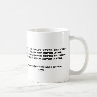 Dizer do vaqueiro caneca de café