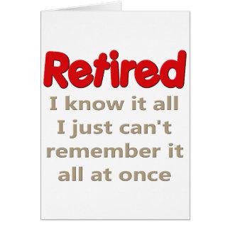 Dizer engraçado da aposentadoria cartão comemorativo