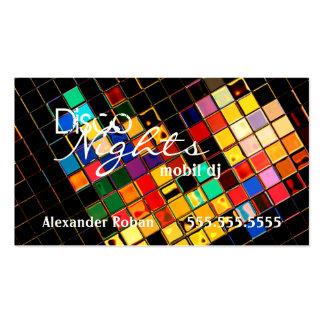 DJ-Indestrutível colorido legal Cartão De Visita