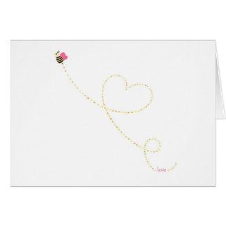 """Do """"abelha do inseto amor"""" cartão comemorativo"""